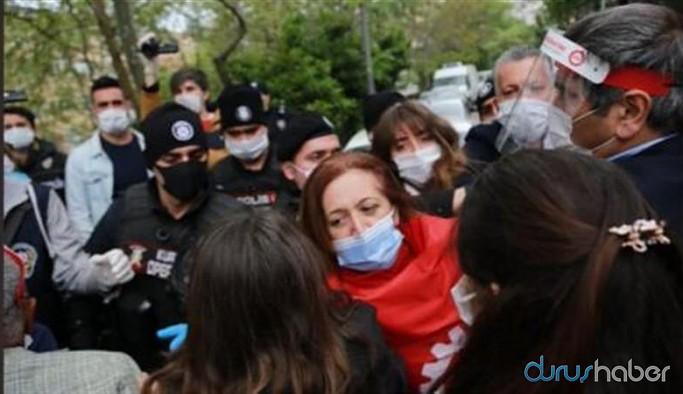 DİSK Başkanı Arzu Çerkezoğlu ile sendika üyeleri serbest