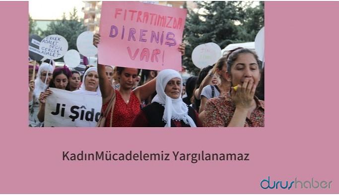 #KadınMücadelemizYargılanamaz etiketiyle kampanya