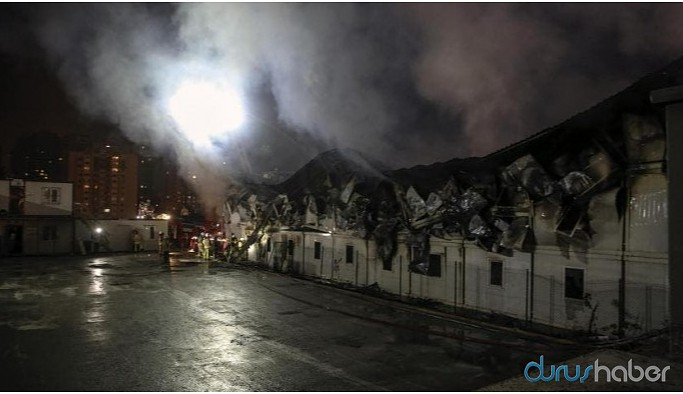 Konteynerde yangın: 1 işçi hayatını kaybetti