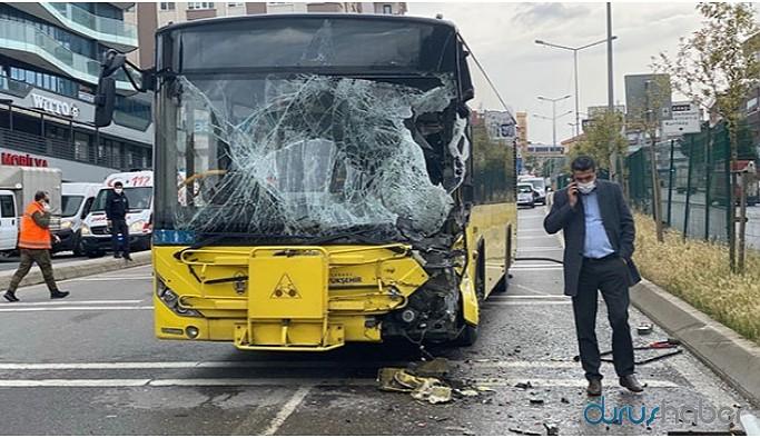 İETT otobüsü ile tanker çapıştı: 7 yaralı