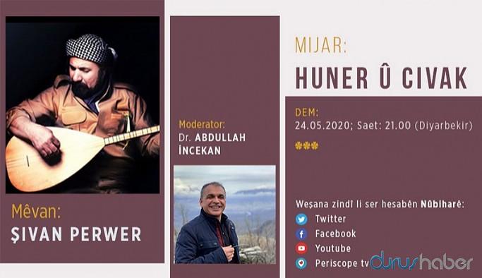 Şivan Perwer bayramın ilk günü Nûbihar Yayınları'na konuk olacak