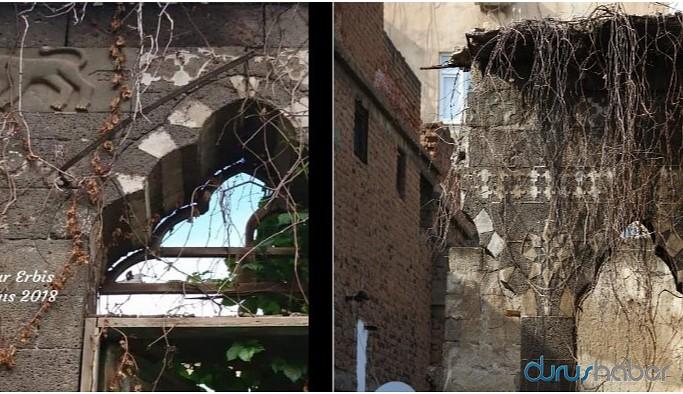 Sur'un tarihi tek tek sökülüyor: Aslan bezeli taş çalındı