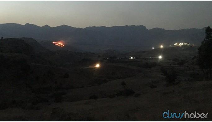 Askerlerin ateşi sonucu Cudi'de yangın