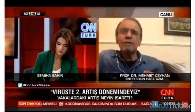 CNN Türk'te dikkat çeken an! Prof. Dr. Ceyhan 'virüs taşıyanlar da sınava girecek' deyince bağlantı koptu