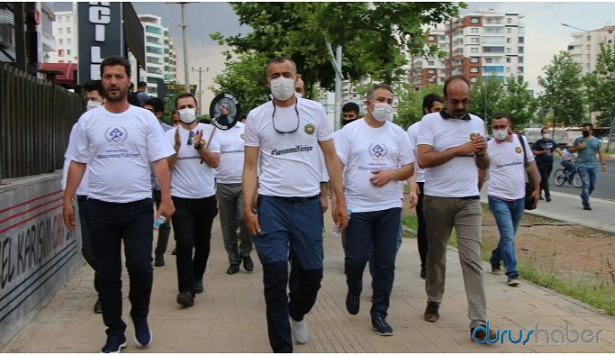Diyarbakır, Mardin, Van baro başkanları da yürüyüşte