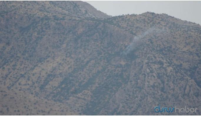 Gabar'da asker ateşi yangın çıkardı