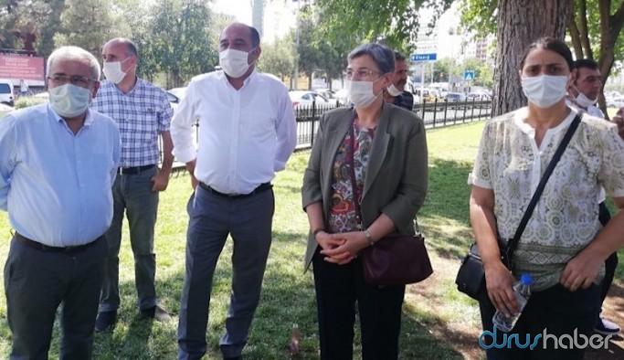 DTK Eşbaşkanı Leyla Güven ifade için çağrıldığı Diyarbakır Adliyesi'nde