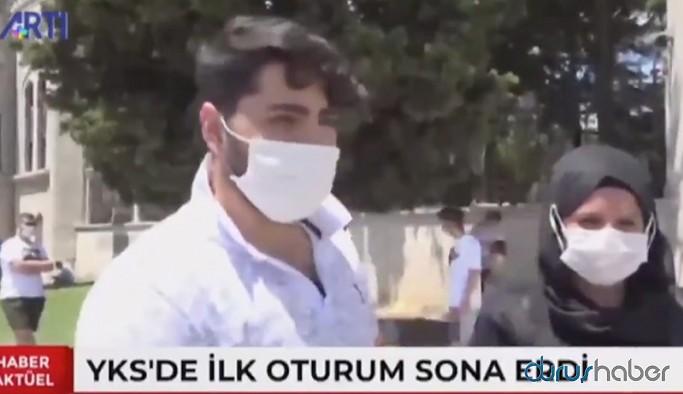 Sınavdan çıkan gençten Erdoğan'a tepki: Reis yanlış yapıyorsun