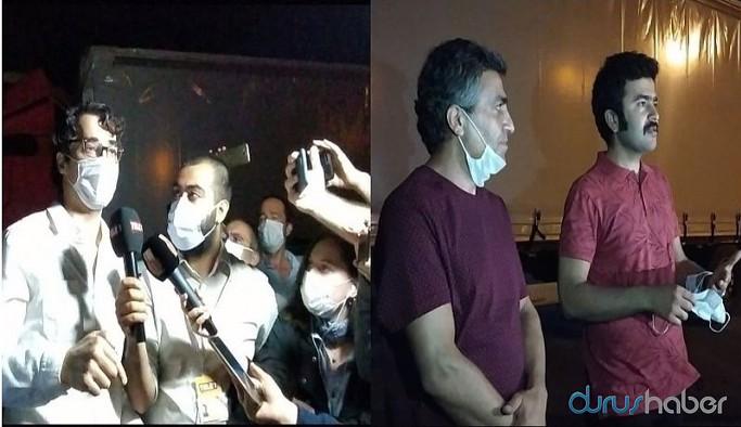 Tahliye kararı verilen 3 gazeteci cezaevinden çıktı