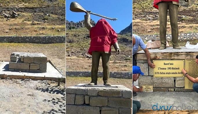 Hasret Gültekin heykeline saldırı gerçekleşti
