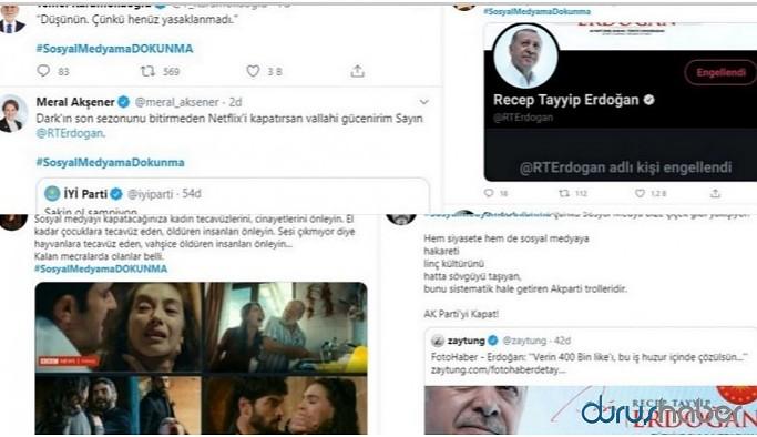 Erdoğan'ın sözlerinden sonra #SosyalMedyamaDOKUNMA hashtagi açıldı