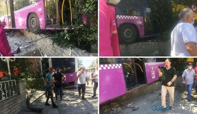 İstanbul'da freni patlayan otobüs kaza yaptı: Yaralılar var
