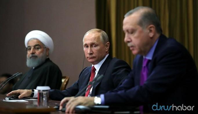 Kritik zirve sonrası Putin, Erdoğan ve Ruhani'den ortak bildiri