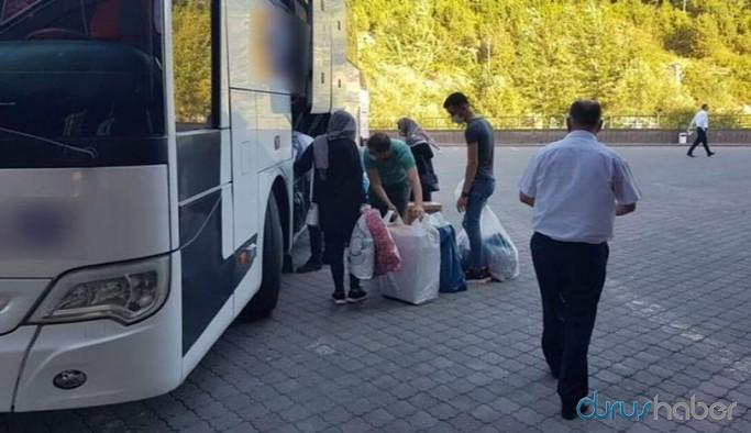 Otobüs yolculuğu yapan aile sistemde pozitif gözüktü, 12 kişi ev karantinasına alındı