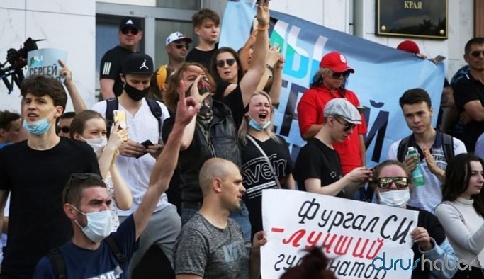 Rusya'da Putin'e karşı protesto