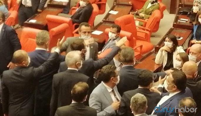TBMM'de tansiyon yükseldi: HDP ve AKP'li vekiller birbirine girdi
