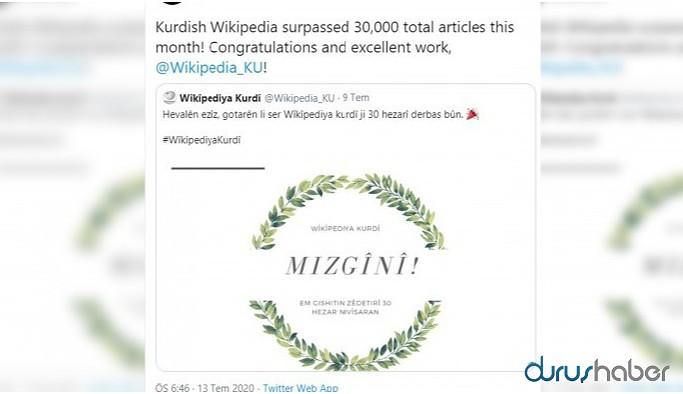 Vikipedia'da Kürtçe makale sayısı 30 bini aştı