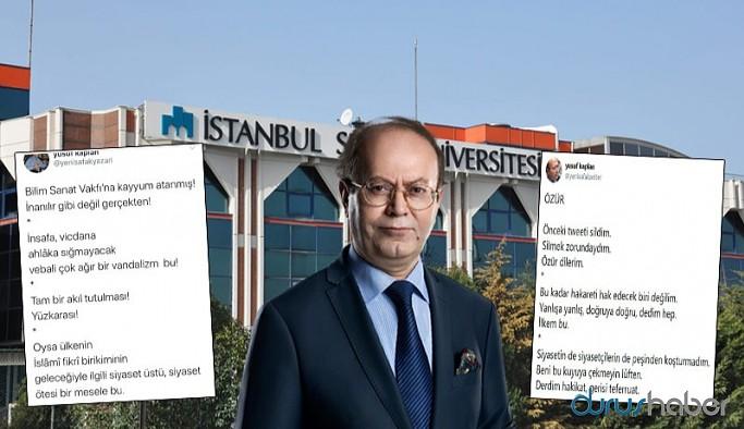 Yeni Şafak yazarı Erdoğan'ı eleştirdiği mesajını sildiği için özür diledi, sonra özür masajını da sildi