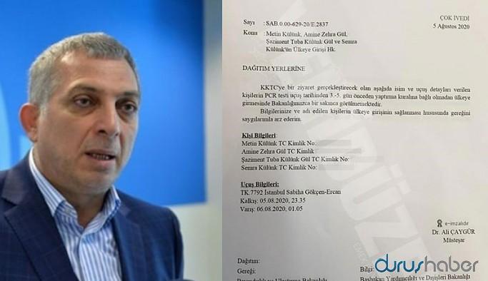 AKP'li vekil ve akrabaları için 'PCR testi' kuralı rafa kaldırıldı