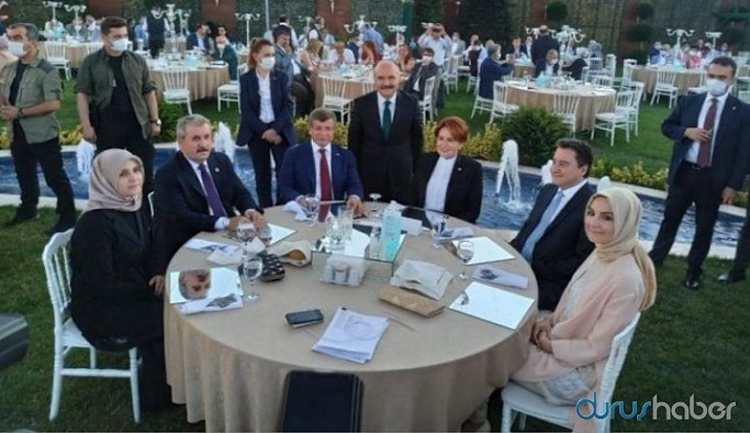 Dört genel başkan düğünde buluştu