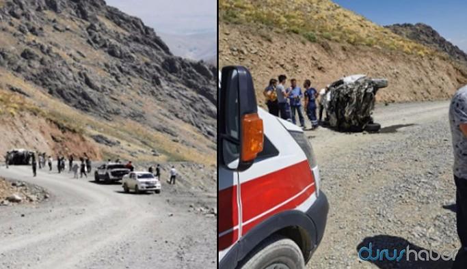Hakkari'de minibüs uçuruma yuvarlandı: 6 ölü