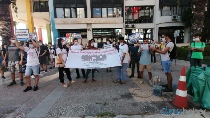 İzmir'de ulaşım zammı protestosu