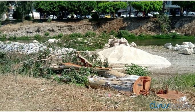'Millet Bahçesi' için ağaçlar kesildi