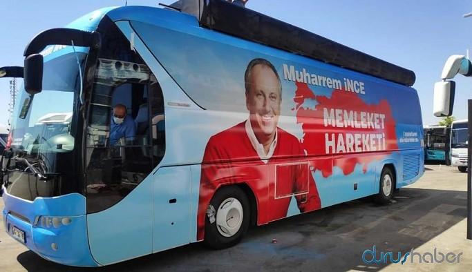 Otobüs hazırlandı, Muharrem İnce yola çıkıyor