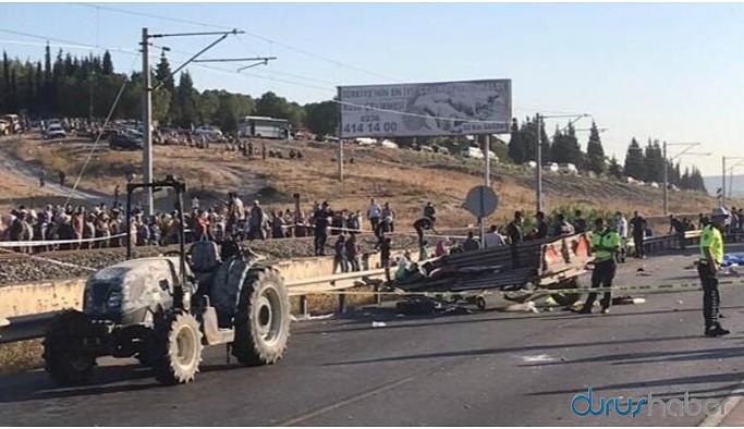 Tarım işçilerini taşıyan traktör kaza yaptı: 3 ölü, çok sayıda yaralı