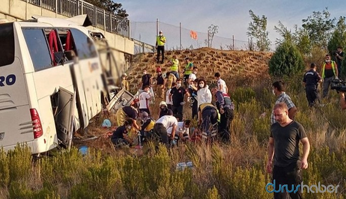 Yolcu otobüsü kaza yaptı: Çok sayıda ölü ve yaralı
