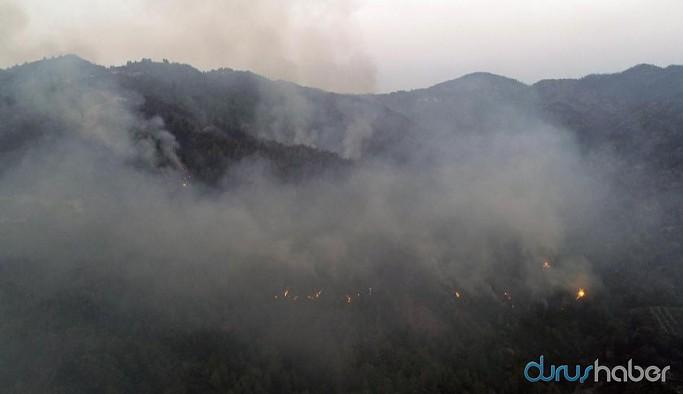 Antakya'da orman yangını dördüncü günde devam ediyor