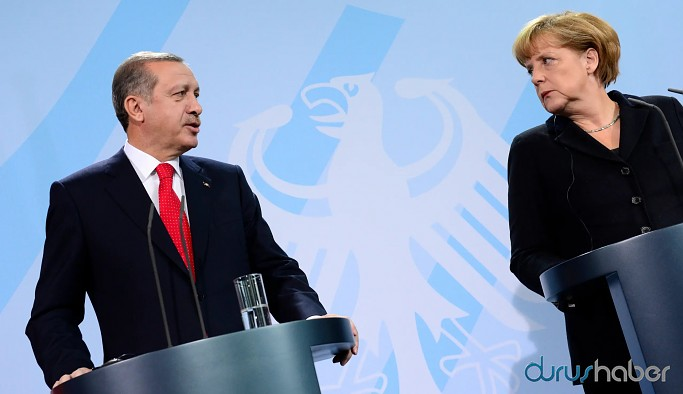 Erdoğan, Almanya Başbakanı Merkel ile görüştü