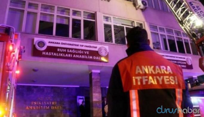 Ankara'da hastane odasında yangın: 1 ölü, 2 yaralı