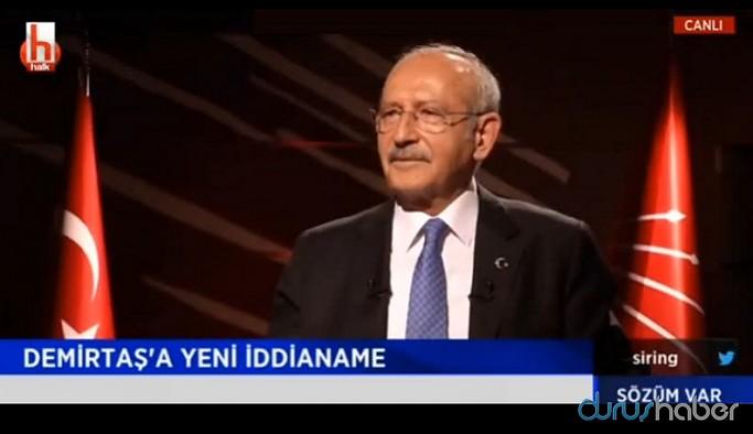 Kılıçdaroğlu'ndan Selahattin Demirtaş'a jet iddianame tepkisi: Şeref madalyası olarak takacak