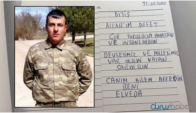 Kürt askerin şüpheli ölümü: Başkasının yazdığı not incelemeye gönderildi