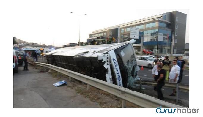 Yolcu otobüsü devrildi: Çok sayıda yaralı