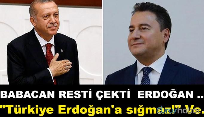 """Ali Babacan resti çekti! """"Türkiye Erdoğan'a sığmaz!"""""""