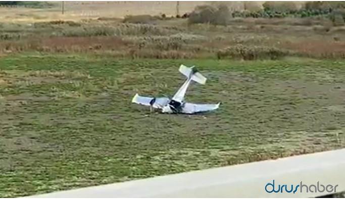 Büyükçekmece'de düşen uçağın pilotu öldü