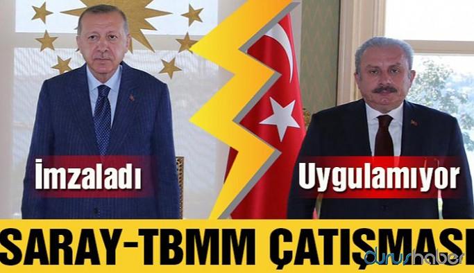 Erdoğan imzaladı, Şentop uygulamıyor