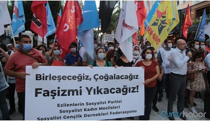 ESP ve SGDF'ye operasyon Kadıköy'de protesto edildi