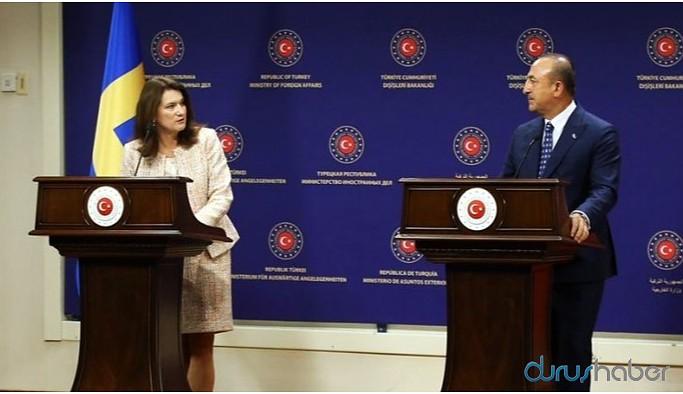 İsveç Dışişleri Bakanı Linde ile Çavuşoğlu arasında 'Kuzey ve Doğu Suriye' tartışması