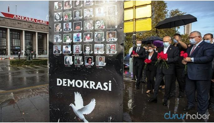 Kılıçdaroğlu 10 Ekim Katliamı'nda yaşamını yitirenleri andı