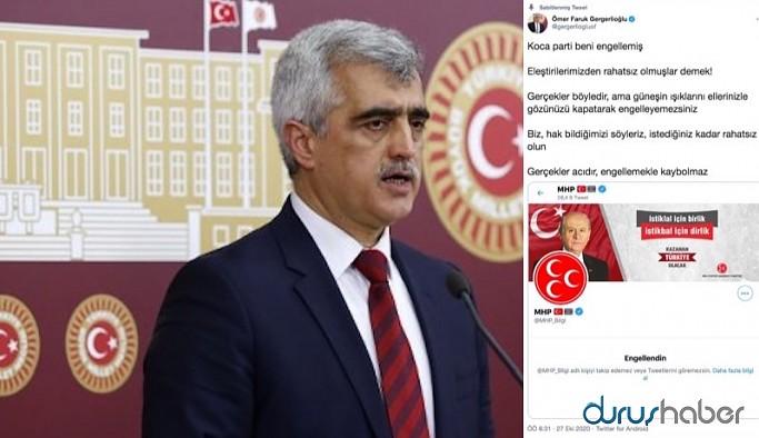 MHP, HDP'li vekili engelledi