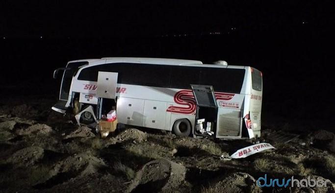 Yolcu otobüsü şarampole düştü: Çok sayıda yaralı