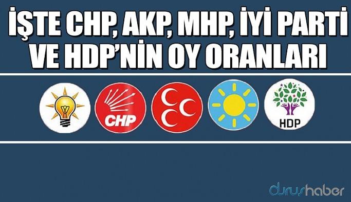 Area Araştırma son seçim anketini açıkladı! İşte AKP, CHP, İYİ Parti, MHP ve HDP'nin oy oranları