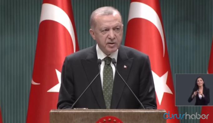 Erdoğan: Hafta sonları saat 10:00-20:00 saatleri dışında sokağa çıkma yasağı uygulanacak