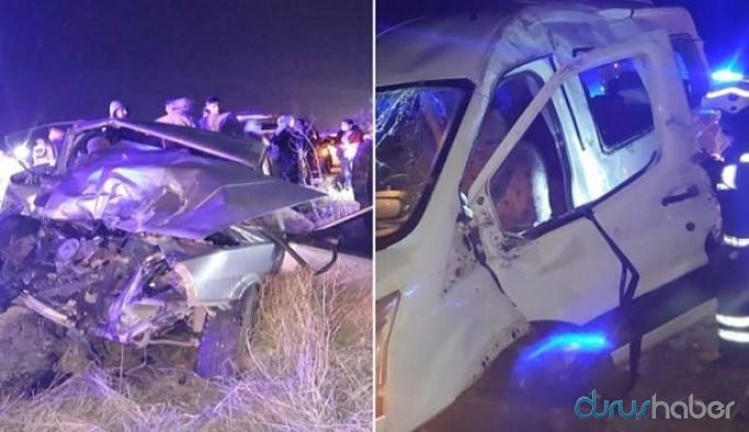 İşçi minibüsü kaza yaptı: 14 yaralı