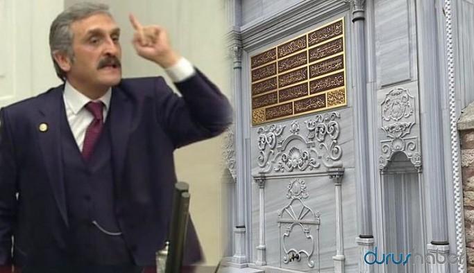 Tarihi çeşmeye babasının adını yazdıran AKP'li Çamlı, İmamoğlu'nu suçladı