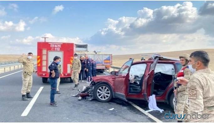 Urfa - Mardin yolunda kaza: 1 ölü 3 yaralı