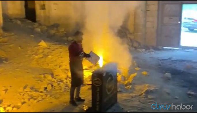 Germuş Ermeni Kilisesi'nde bu kez mangal yakıldı
